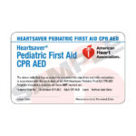 Aha Heartsaver® Pediatric First Aid Cpr Aed Course Completion Cards – 6  Pack Worldpoint® Regarding Cpr Card Template