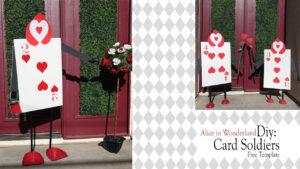 Alice In Wonderland Diy / Queen Of Heart Card Soldiers regarding Alice In Wonderland Card Soldiers Template