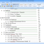 Aligning Numbers In Table Of Contents In Microsoft Word Inside Word 2013 Table Of Contents Template