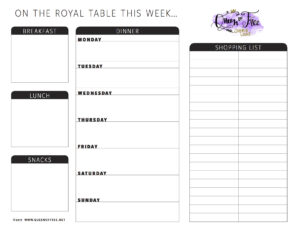 All New: Free Printable Meal Planner You Can Edit – Queen Of with Blank Meal Plan Template