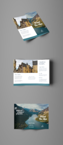 Alpine Travel Tri Fold Brochure Template   Brochure inside Free Online Tri Fold Brochure Template