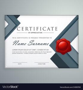 Amazing Modern Certificate Template Design With intended for Design A Certificate Template