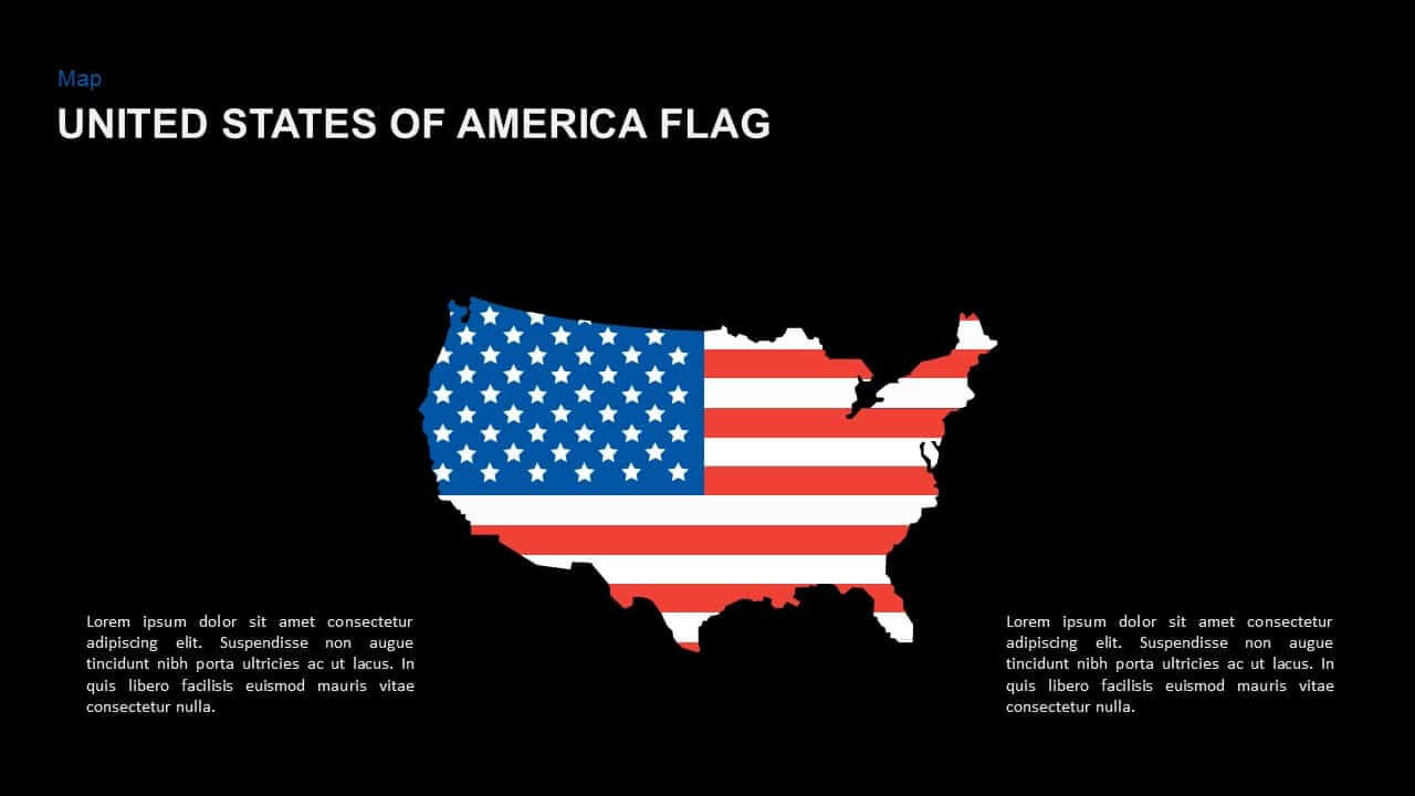 American Flag Powerpoint Template And Keynote Slide With American Flag Powerpoint Template