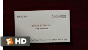 American Psycho (2/12) Movie Clip – Business Cards (2000) Hd with Paul Allen Business Card Template