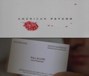 American Psycho Business Card Paul Allen Quote Analysis throughout Paul Allen Business Card Template
