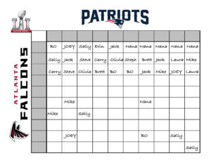 An Easy, Fun Way To Create A Super Bowl Betting Chart For intended for Football Betting Card Template