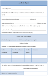 Analysis Report Template | Templates | Report Template intended for Analytical Report Template