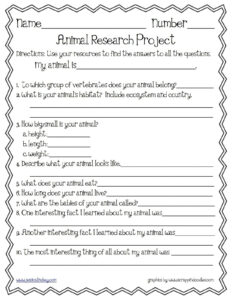 Animal Report Template Research Things Teachers Love regarding Animal Report Template
