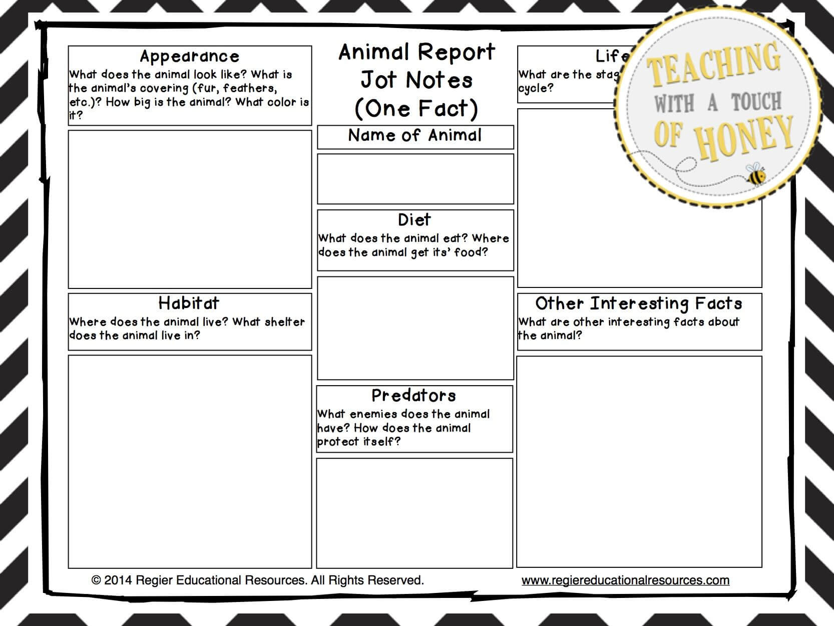 Animal Research Project - Animal Report Writing Templates Regarding Animal Report Template