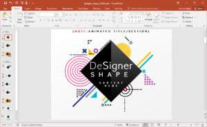 Animated Designer Shapes Powerpoint Template throughout Powerpoint Replace Template