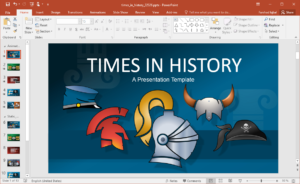 Animated Times In History Powerpoint Template regarding Multimedia Powerpoint Templates