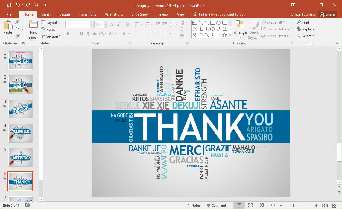 Animated Word Cloud Powerpoint Template Within Free Word Collage Template