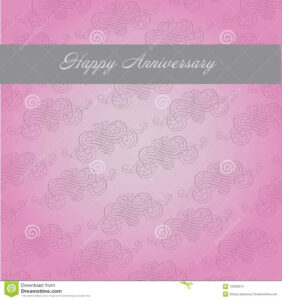Anniversary Template Stock Vector. Illustration Of Greeting in Template For Anniversary Card