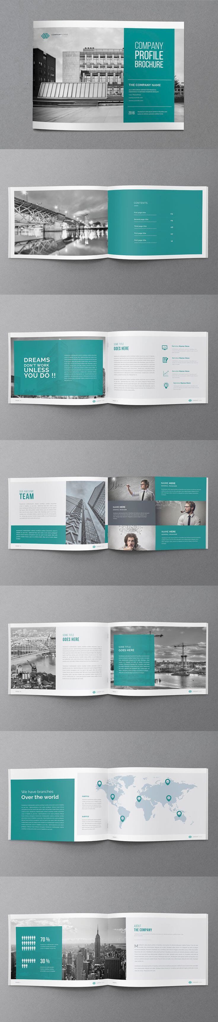 Annual Report Brochure Template Indesign Indd – 20 Pages A4 Inside Brochure Template Indesign Free Download