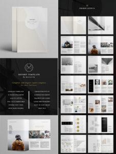 Annual Report Design Templates Free Download In Word within Free Annual Report Template Indesign