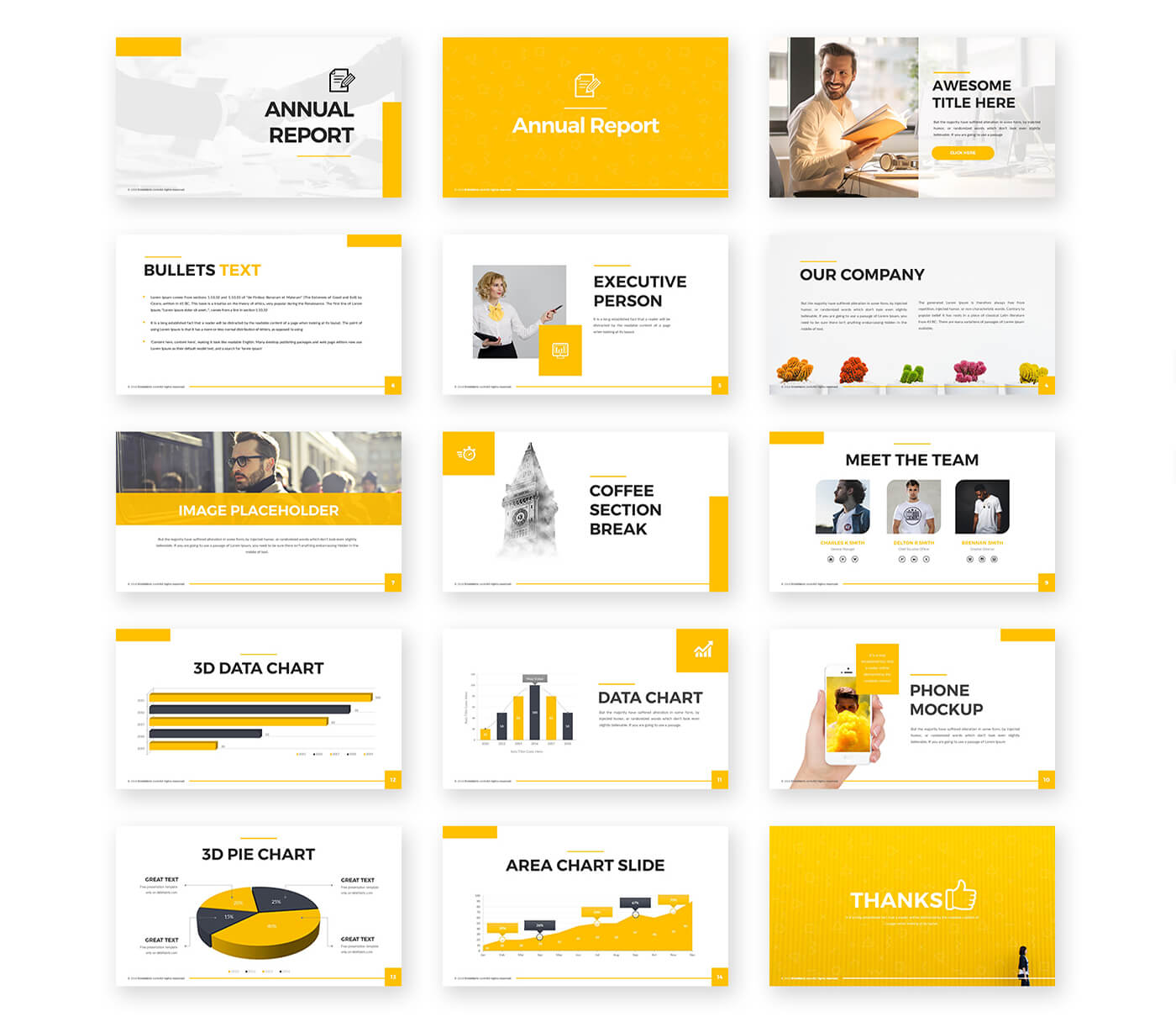 Annual Report Powerpoint Template – Free Presentations With Regard To Annual Report Ppt Template