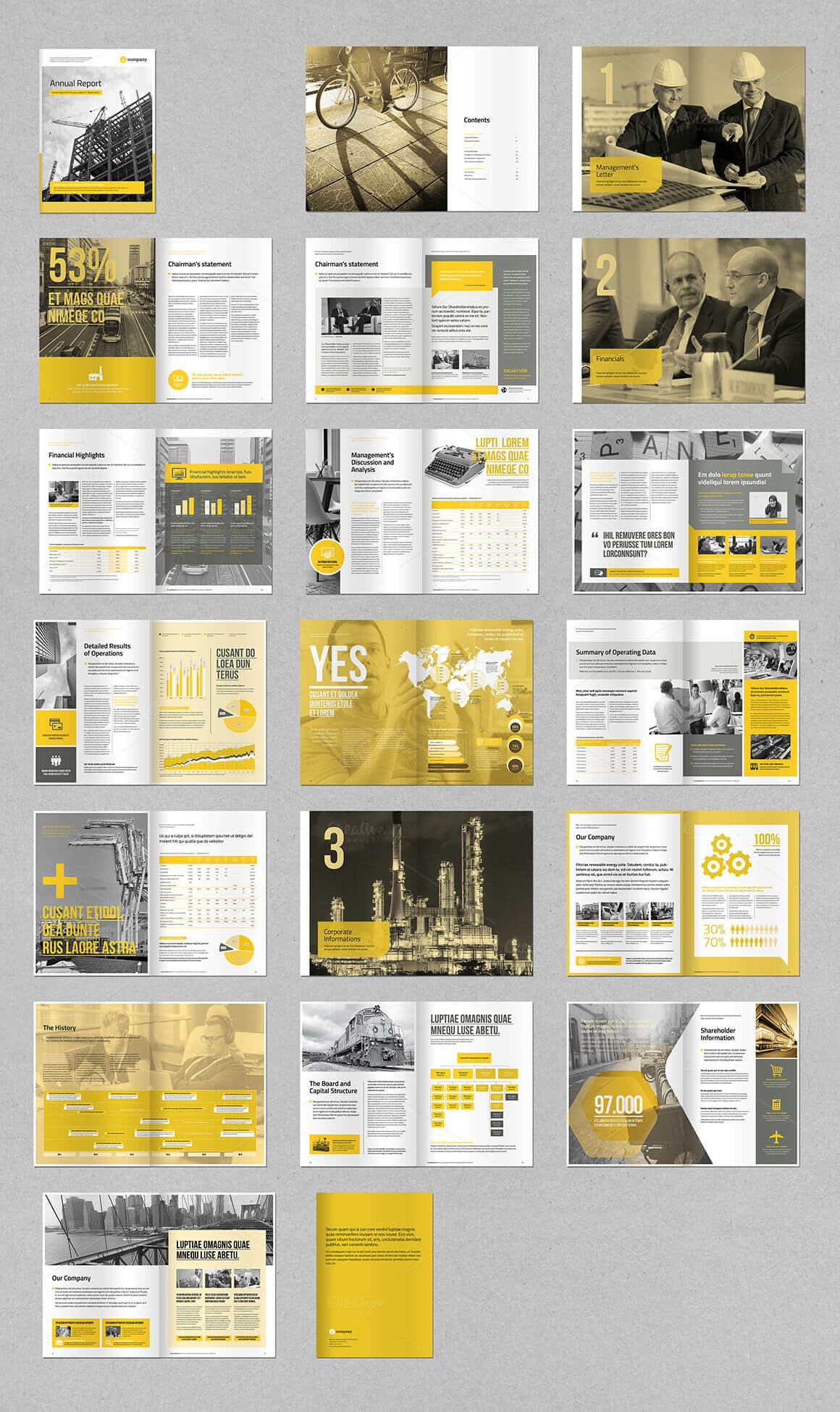 Annual Reportmrtemplater On @creativemarket … | Layouts Pertaining To Chairman's Annual Report Template