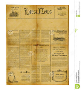 Antique Newspaper Template Stock Image. Image Of Information for Old Blank Newspaper Template