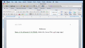 Apa Format In Word For Mac with Apa Format Template Word 2013