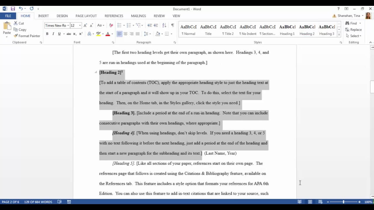 Apa Template In Microsoft Word 2016 Within Apa Template For Word 2010