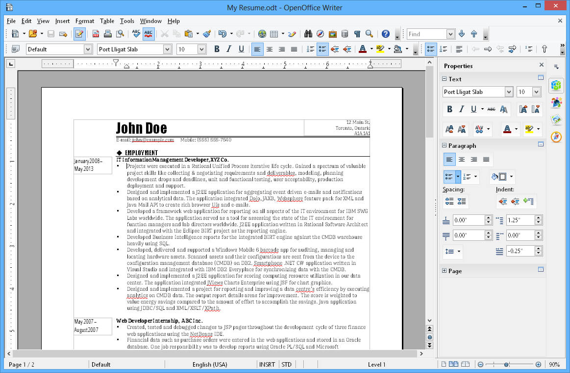 Apache Openoffice Writer Inside Index Card Template Open Office