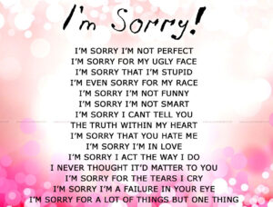 Apology Card Templates | 10+ Free Printable Word & Pdf inside Sorry Card Template