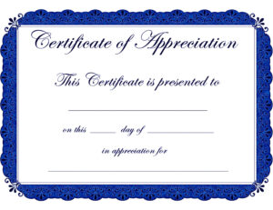 Appealing Award Template Word For Certificate Of with regard to Blank Award Certificate Templates Word