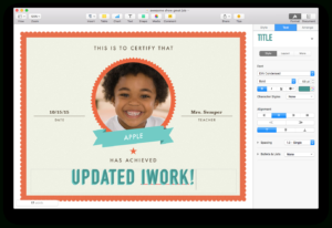 Apple Updates Iwork For Mac, With Force Touch And Split View Throughout Pages Certificate Templates