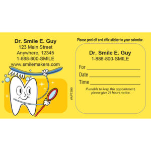 Appointment Cards – Marketing Your Practice Pertaining To Dentist Appointment Card Template