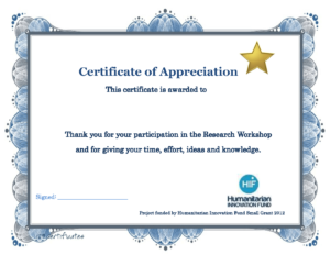 Appreciation Training Certificate Completion Thank You Word with regard to Certificate Of Participation In Workshop Template