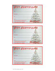 Archaicawful Free Printable Christmas Gift Certificate intended for Free Christmas Gift Certificate Templates