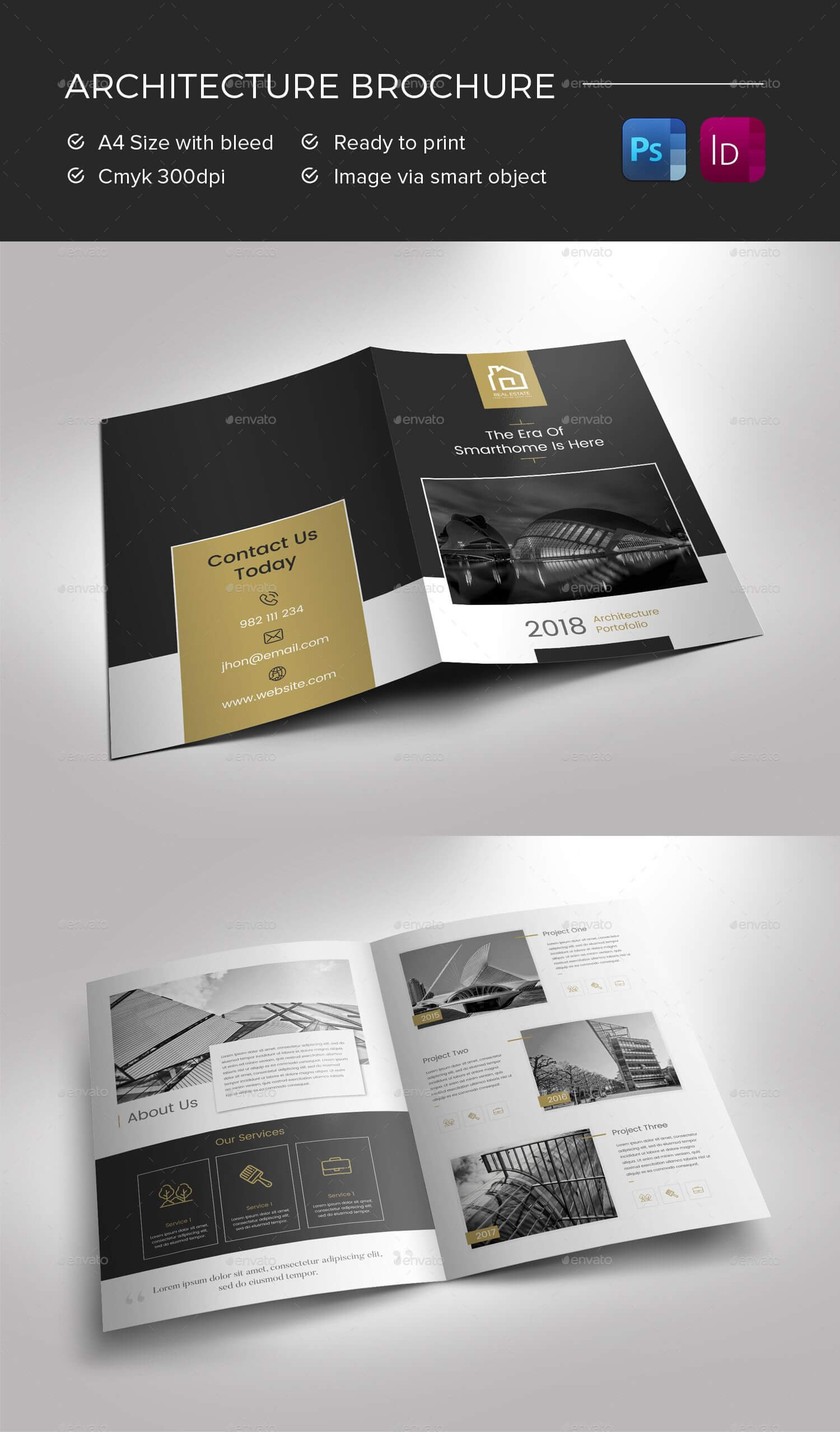 Architecture Brochure Preview - Graphicriver | Brochure With Regard To Architecture Brochure Templates Free Download