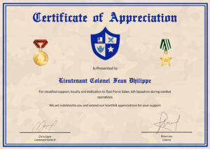Army Certificate Of Appreciation Template within Army Certificate Of Appreciation Template