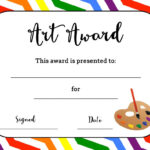 Art Award Certificate (Free Printable) | Art | Elementary with regard to Art Certificate Template Free