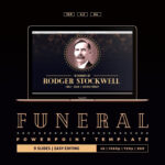 Art Deco Funeral Powerpoint Template #place#ways#today With Regard To Funeral Powerpoint Templates