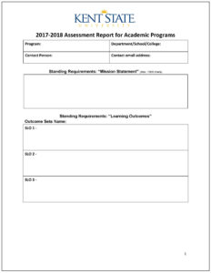 Assessment Report – Word Template | Accreditation intended for State Report Template