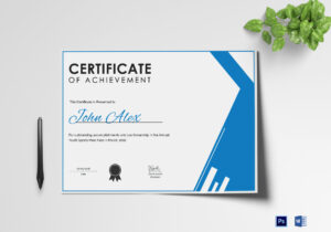 Athletic Achievement Certificate Template Pertaining To Athletic Certificate Template