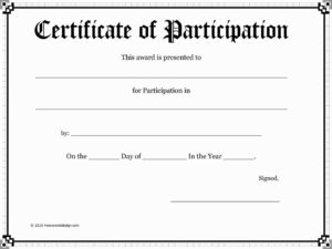 Attendance Award Certificate Templates Fresh 14 Best regarding Free Templates For Certificates Of Participation