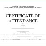 Attendance Certificate Template Word Guarantee Certificate Within Scholarship Certificate Template Word