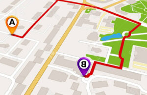 Attractive Photostock Vector Perspective City Map Gps with regard to Blank City Map Template