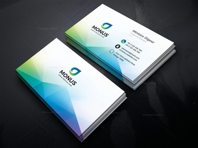 Aurora Modern Business Card Design Template 001593 | Office Intended For Modern Business Card Design Templates