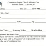 Australian Business Card Template   Business Card Sample For Church Visitor Card Template