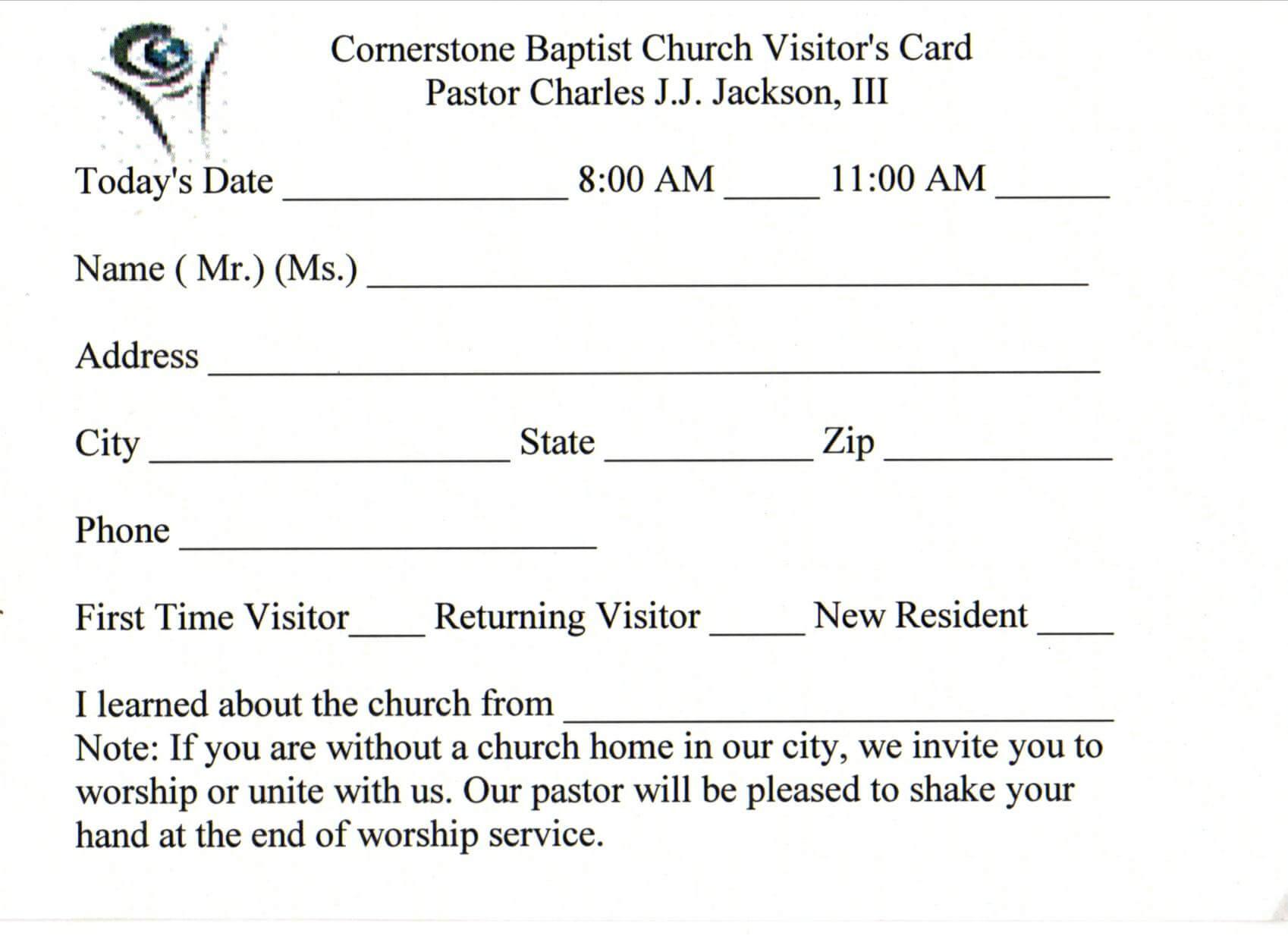 Australian Business Card Template | Business Card Sample Regarding Church Visitor Card Template Word