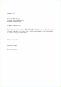 Authorization Letter Format – Metapage.co With Certificate Of Authorization Template