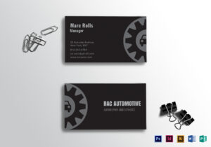 Automotive Business Card Template for Automotive Business Card Templates