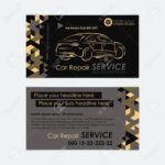 Automotive Service Business Card Template. Car Diagnostics And.. For Transport Business Cards Templates Free