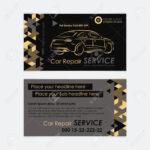 Automotive Service Business Card Template. Car Diagnostics And.. With Regard To Automotive Business Card Templates