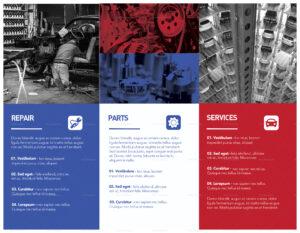 Automotive Tri-Fold Brochure Template in Engineering Brochure Templates
