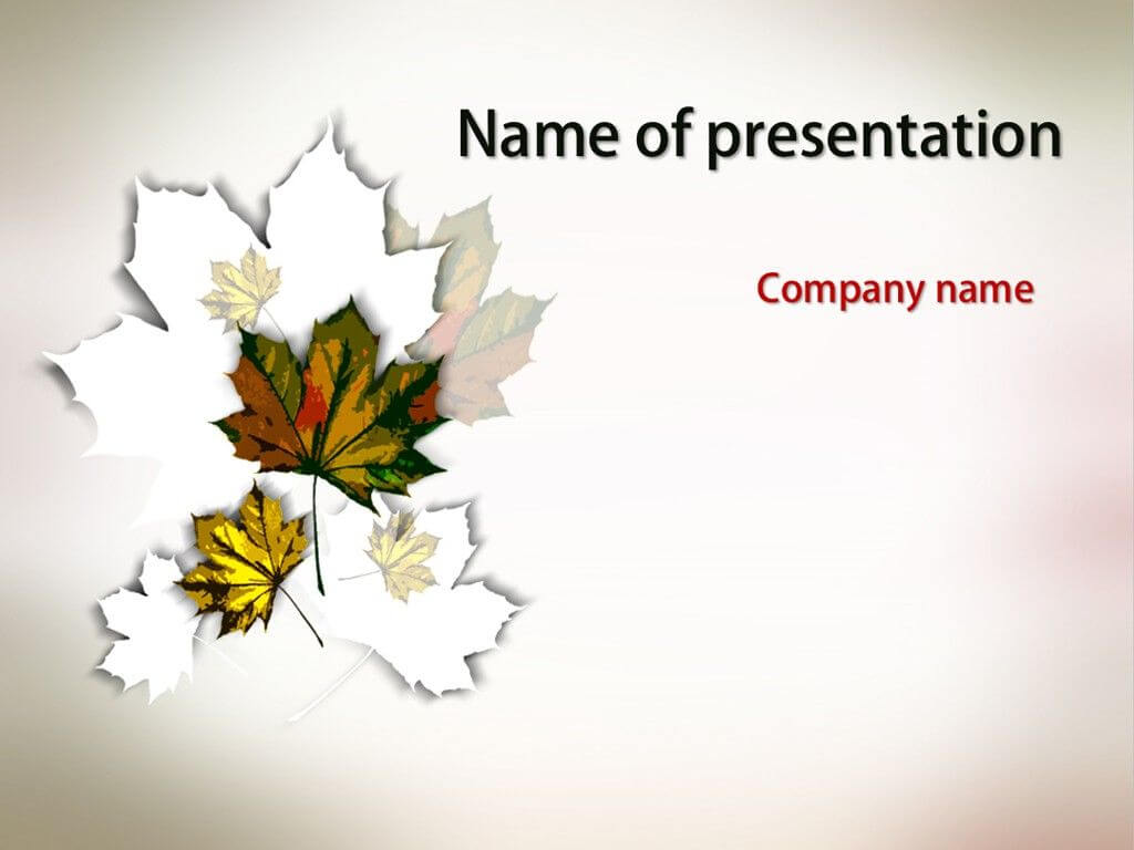 Autumn Leaves Powerpoint Template | Powerpoint Templates Throughout Free Fall Powerpoint Templates