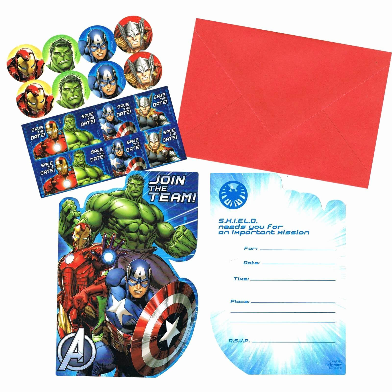 Avengers Birthday Card Invitations Infinity War Party Pertaining To Avengers Birthday Card Template